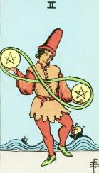 Betekenis Pentagrammen Twee Tarot Dagkaart