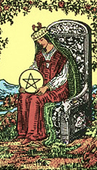 Betekenis Pentagrammen Koningin Tarot Dagkaart